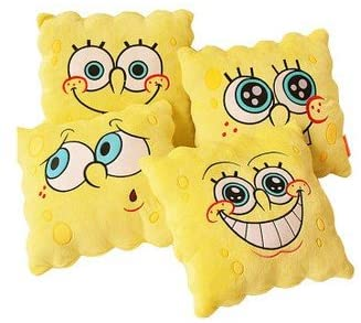 NPYANYAN SpongeBob SquarePants Anime Pillow Cute Cartoon Sofa Cushion@55X55cm_14