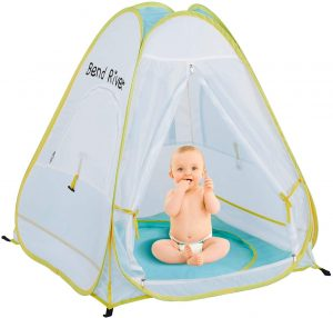 Bend River Pop Up Baby Beach Tent, UPF 50+ Sun Shelter with Pool, Portable Mosquito Net for Infant