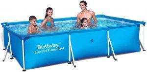 "Bestway 56498 Deluxe Splash 9.8' x 6.7' x 26"" Kids Rectangular Above Ground Swimming Pool (Pool Only)"