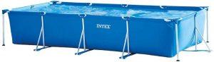 "Intex 86"" x 23"" Rectangular Frame Above Ground Outdoor Child Safe Splash Swimming Pool"