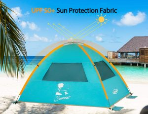 ZOMAKE Pop Up Tent 3 4 Person, Beach Tent Sun Shelter for Baby with UV Protection - Automatic and Instant Setup Tent for Family